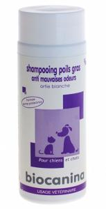 Shampooing Poils Gras Anti Mauvaises Odeurs Chien et Chat BIOCANINA - Flacon 200 ml