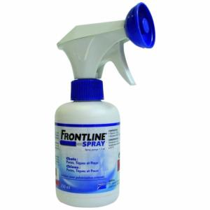 Anti puces anti tiques frontline spray antiparasitaire chien et chat 5 kg merial 250 ml - Spray anti puce chat ...