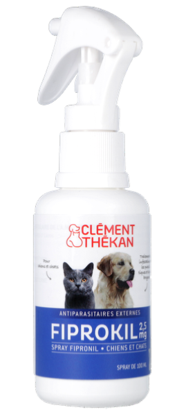 Anti puce chat et chien fiprokil 2 5 mg en spray cl ment th kan - Spray anti puce chat ...