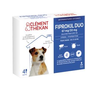 Fiprokil Duo 67mg/20mg Petit Chien CLEMENT THEKAN - Boite 4 Pipettes 0,67 ml