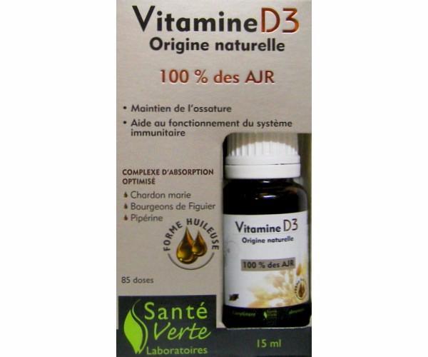 compl ment alimentaire vitamine d3 sant verte 15 ml. Black Bedroom Furniture Sets. Home Design Ideas