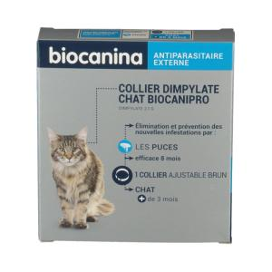 Collier Dimpylate Chat Biocanipro Antiparasitaire BIOCANINA - 1 Collier