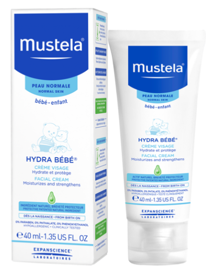 mustela hydra b b cr me visage peau normale 40 ml. Black Bedroom Furniture Sets. Home Design Ideas