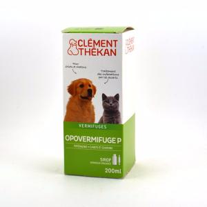 Opovermifuge P Chiot Chaton CLEMENT THEKAN - Sirop 200 ml